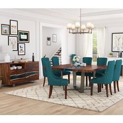 Alberta Solid Wood Live Edge 10 Piece Dining Room Set