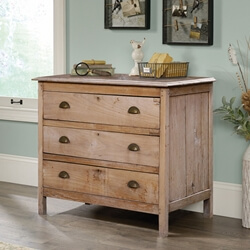 Cartagena Farmhouse Rustic Reclaimed Wood 3 Drawer Bedroom Dresser