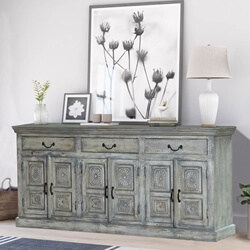 Galena Sunburst Handcrafted Solid Wood Large Sideboard Cabinet