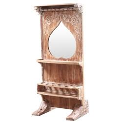 Paulo Rustic Solid Wood Liquor Display Cabinet