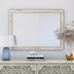 Memphis Solid Mahogany Wood Distressed Mirror Frame
