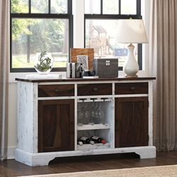 Alifron Farmhouse Style Two-Tone Buffet Bar Cabinet