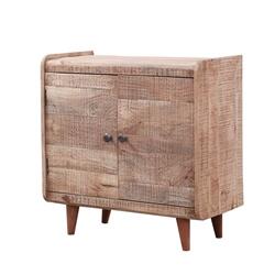 Modern Rustic Solid Wood Two-door Storage Cabinet