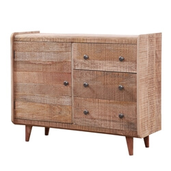 Marlow Rustic Solid Wood 3 Drawer Combo Dresser