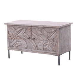 Tarquin Reclaimed Wood Moroccan Standing Storage Cabinet