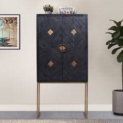 Bowral Solid Wood Modern Rustic Accent Storage Cabinet