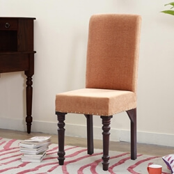 Bergamo Solid Wood Traditional Parsons Chair with Turned-Legs