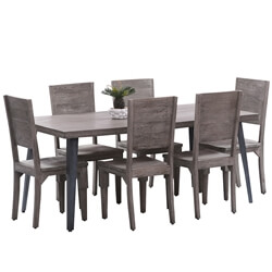 Busselton Rustic Solid Wood Farmhouse Dining Table Chair Set