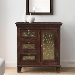 Healesville Rustic Solid Wood Traditional Decorative Combo Dresser