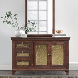 Healesville Rustic Solid Wood Traditional 3-Drawers Combo Dresser