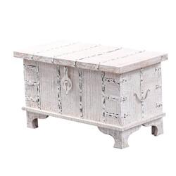 Basilicata Solid Wood Distressed Storage Coffee Table Trunk