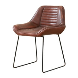 Foligno Tufted Leather Upholstered Industrial Accent Chair