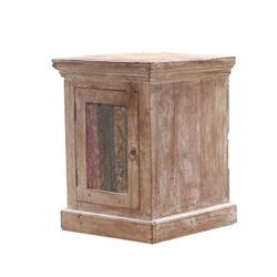 Gorizia Rustic Reclaimed Wood Single Door Nightstand