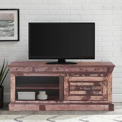 "Alghero Rustic Reclaimed Wood 47"" TV Stand Media Cabinet"