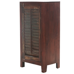 Corato Reclaimed Wood Slatted Door Vintage Armoire