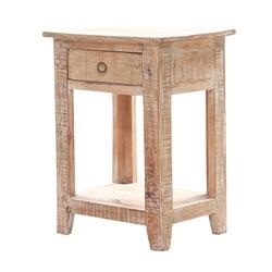 Bolsena Solid Wood 1 Drawer End Table