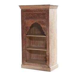 Holtville Handcarved Solid Wood Rustic Bookcase