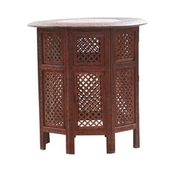 Moroccan Style Octagonal Solid Wood End Table