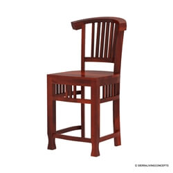 Solid Wood Curved Back Dining Chair