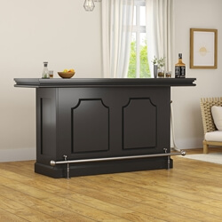 Sierra Vista Solid Wood Black Mahogany Home Bar Counter Cabinet