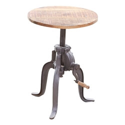 Solid Wood Industrial Style Bar Stool