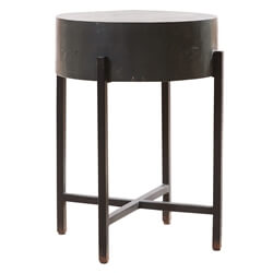 Solid Wood Industrial Style Round Bar Stool