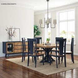 Salzburg Rustic Two-Tone Solid Wood Dining Room