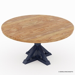 Salzburg Two Tone Solid Wood Round Dining Table