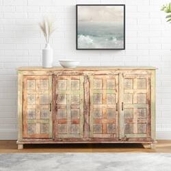 Strasbourg Rustic Solid Wood Distressed Large Sideboard Cabinet