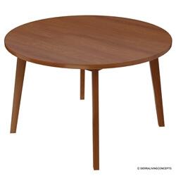 Ambrose Midcentury Modern Teak Wood Round Dining Table
