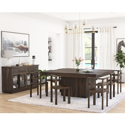 Pescara Solid Wood Square Solid Wood Dining Room Set