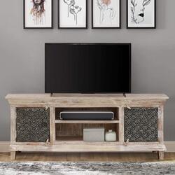 Welkom Distressed Solid Wood 2 Door TV Stand Media Cabinet
