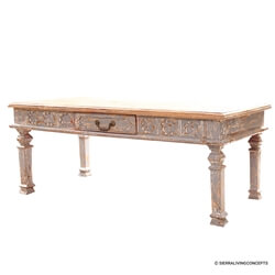 Rustic Solid Wood 1 Drawer Coffee Table