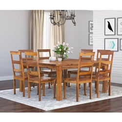 Appalachian Wood Rustic Square Dining Table and Chair Set