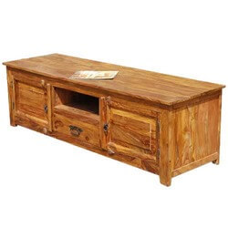 Rustic Solid Wood Long Appalachian TV Stand Entertainment Console
