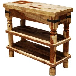 Appalachian Rustic 3-Tier Hall Console Table