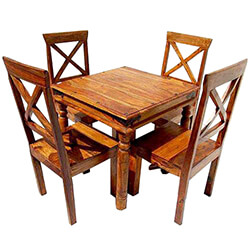 Appalachian Rustic Contemporary Dinette Table and Chair Set