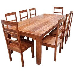 Amazing Rustic Furniture Solid Wood Dining Table Chair Set Download Free Architecture Designs Rallybritishbridgeorg