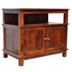 Cortez Solid Wood Rustic Media Center Small TV Media Console