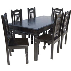 Nottingham Ebony 7 Piece Dining Room Table Chair Set
