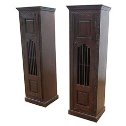 Boston Iron Grill Solid Wood Narrow Display Cabinet Armoire (Set of 2)