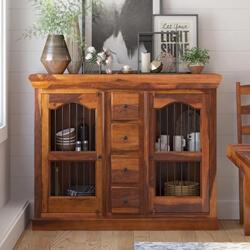 Arlington Handmade Solid Wood Dining Room 4 Drawer Rustic Sideboard
