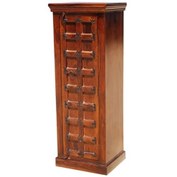 Lansing Solid Wood Narrow Armoire Cabinet With Shelves