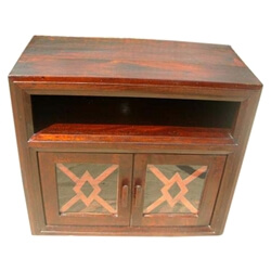 Entertainment Center Solid Wood Rustic Media Cabinet