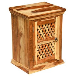 Wood Night Stand Bed Side Table Kitchen Storage Cabinet
