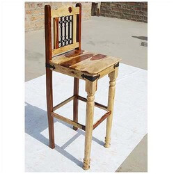 Dallas Ranch Bar Chair Stools with Wrought Iron Back (Set of 2)