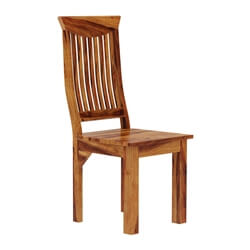 Idaho Modern Solid Wood Contemporary Wave Back Ergonomic Dining Chair