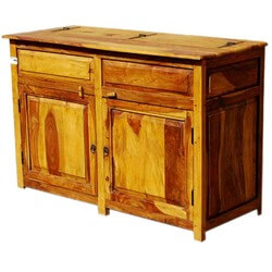 Dallas Ranch Rustic Solid Wood 2 Door Kitchen Storage Cabinet