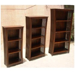 Covina 3, 4 Open Shelf Rustic Solid Wood Bookcase (Set Of 3)