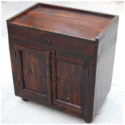 Overlea Handcrafted Solid Wood Storage 1 Drawer Nightstand